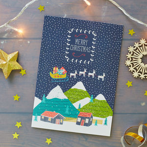 Winter Scene Christmas Card Pack - cards & wrap