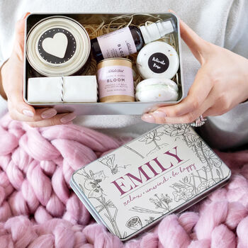 Personalised 'Be Happy' Deluxe Spa Gift Set