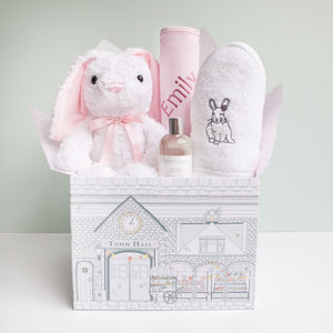 Little Love Bubbles And Snuggles Hamper, Pink - blankets, comforters & throws
