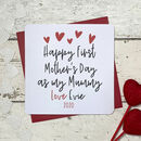 Happy First Mother's Day As My Mummy Personalised Card