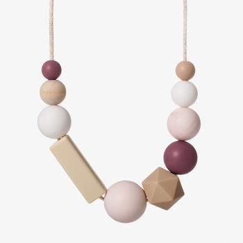 Sorbet Blush Teething Necklace