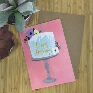 Birthday Cake Stand Card