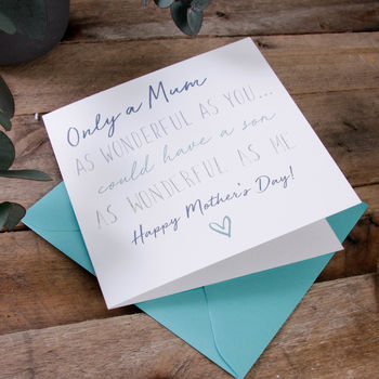 'Wonderful' Mother's Day Card