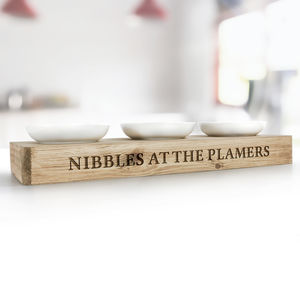 Personalised Nibbles Platter Holder - serving dishes