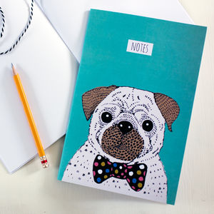 Illustrated Pug Notebook
