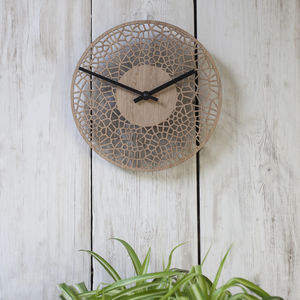 Contemporary Dinky Oak Cell Clock - clocks