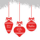 Wife Personalised Baubles Christmas Card
