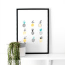 Pineapple Illustrated Art Print
