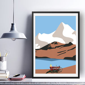 In The Mountains Art Print - posters & prints