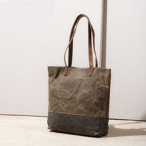 Waxed Canvas Tote Bag - bags