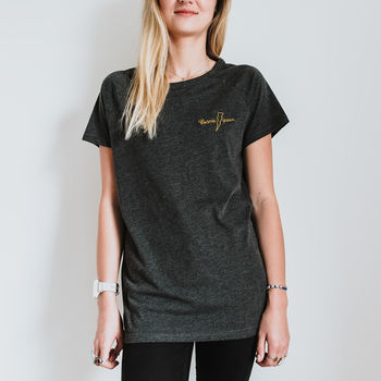 Cosmic Queen Embroidered Organic Cotton T Shirt