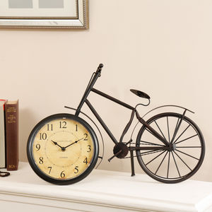 Traditional Parisian Antique Bicycle Clocks - decorative accessories