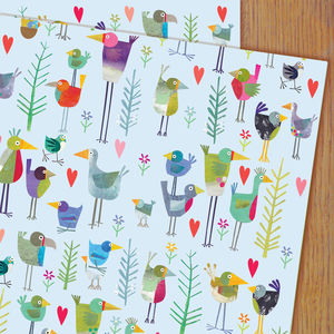 Birdie Wrapping Paper Two Sheets