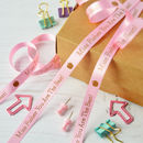 Thank You Teacher 10mm Personalised Printed Ribbon