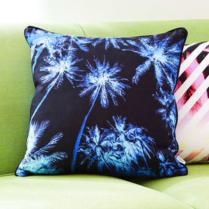 Tropical Palm Tree Sky Print Cushion - cushions