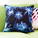Tropical Palm Tree Sky Print Cushion