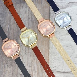 Lincoln Leather Strap Watch - watches