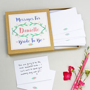 Botanical Messages For The Bride Box - wedding cards & wrap