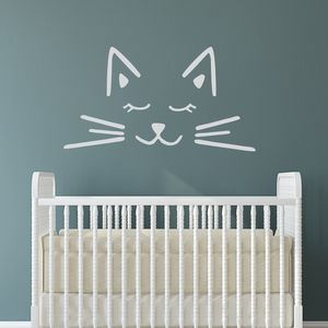 Cat Face Wall Sticker - baby & child sale
