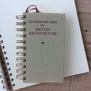 'British Architecture' Upcycled Notebook