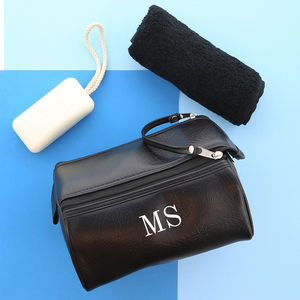 Personalised Mens Wash Bag And Towel Set