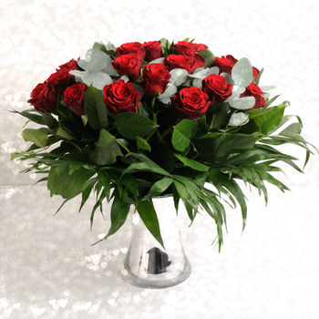 Romantic Two Dozen Luxury Red Rose Bouquet