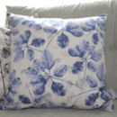 Botanical Print Linen Cushion Cover