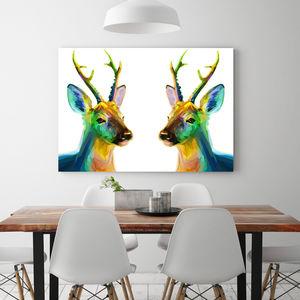 Deer Love, Canvas Art - canvas prints & art