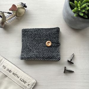 Personalised 'Harris Tweed' Cufflink Wallet