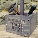 personalised wooden toolbox