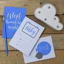 New Baby Journal And Milestone Cards Gift Set