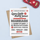 Retro Vintage Wedding Invitation