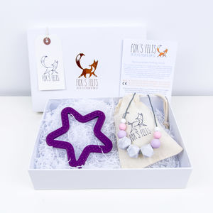 Mumma And Me Purple Star Gift Set