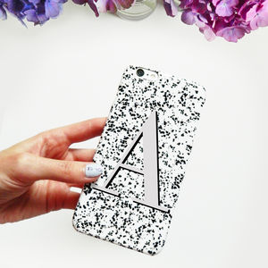 Black White And Grey Alphabet Monogram Phone Case