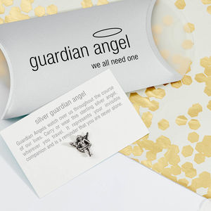 Silver Guardian Angel Keepsake - tokens & keep sakes