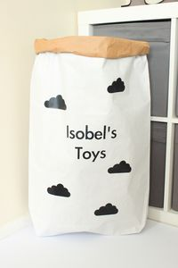 Personalised Cloud Pattern Paper Storage Bag