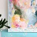 Contemporary Colourful Floral Abstract Canvas Painting