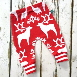 Christmas Baby Leggings, Kids Leggings, Reindeers - trousers & leggings