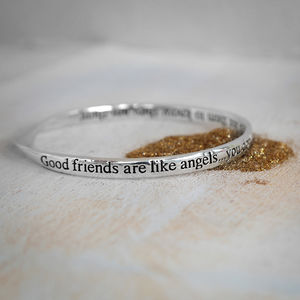 Good Friends Are Like Angels Bangle - bracelets & bangles