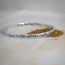 Good Friends Are Like Angels Bangle