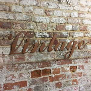 Rusted Vintage Word Sign - decorative accessories