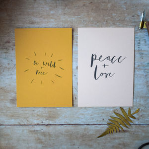 Wild And Free Note Cards