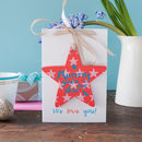 Personalised Mummy Star Gift And Mother's Day Card