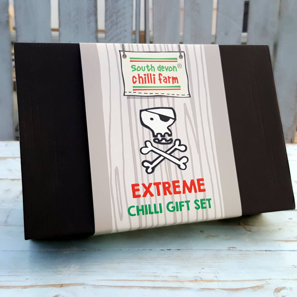 extreme chilli gift set by south devon chilli farm | notonthehighstreet.com