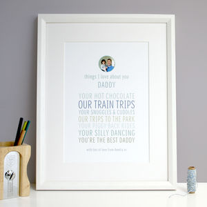Personalised 'Things I Love About Dad Or Grandpa' Gift