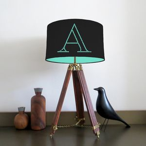 Personalised Plain Cotton Letter Lampshade - children's lighting