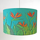 Tropical Bird Of Paradise Flower Handmade Lampshade