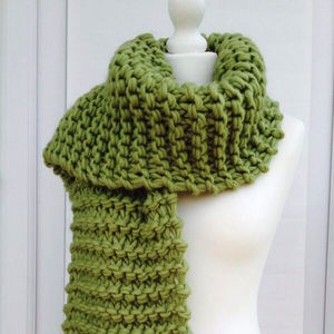Diy Knitting Kit Chunky Bulky Scarf Learn To Knit