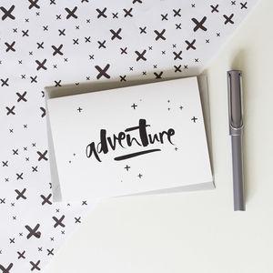 'Adventure' Card - blank cards