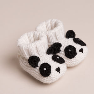 Cashmere Panda Bear Booties